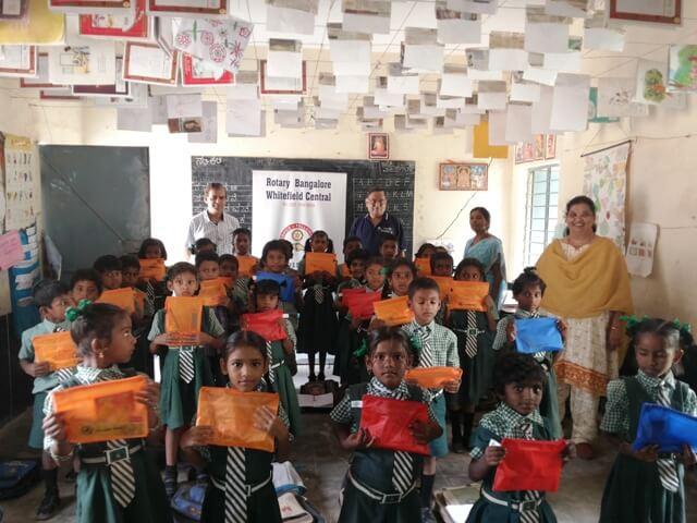 Mercedes Benz sponsored writing kits distributed to Govt. School Children