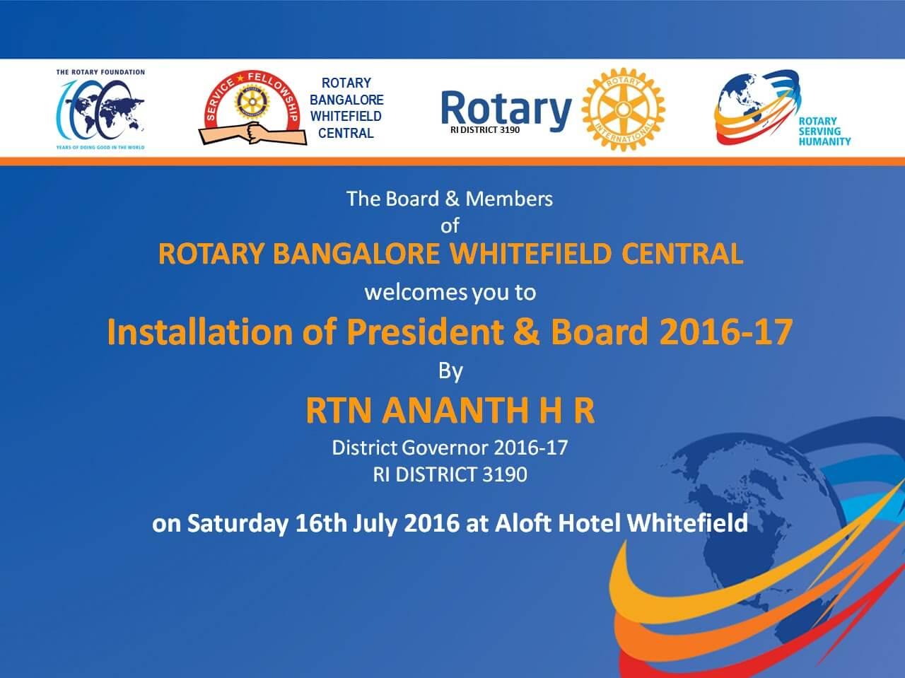 Installation of New Board 2016-17