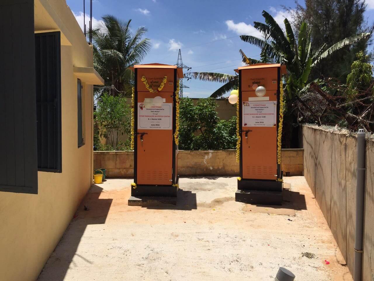 E-Toilets inaugration