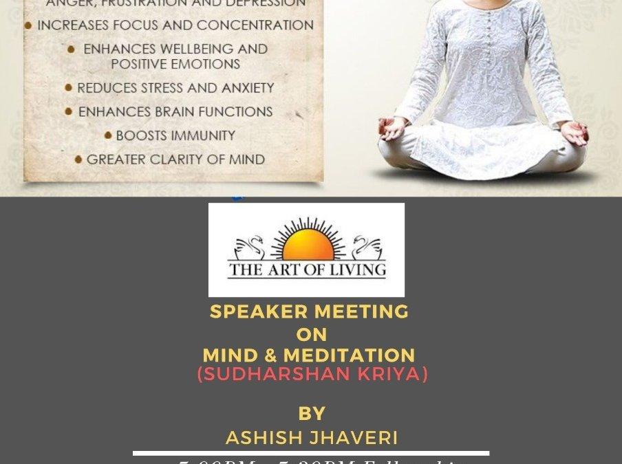 Speaker meeting on Sudarshan Kriya