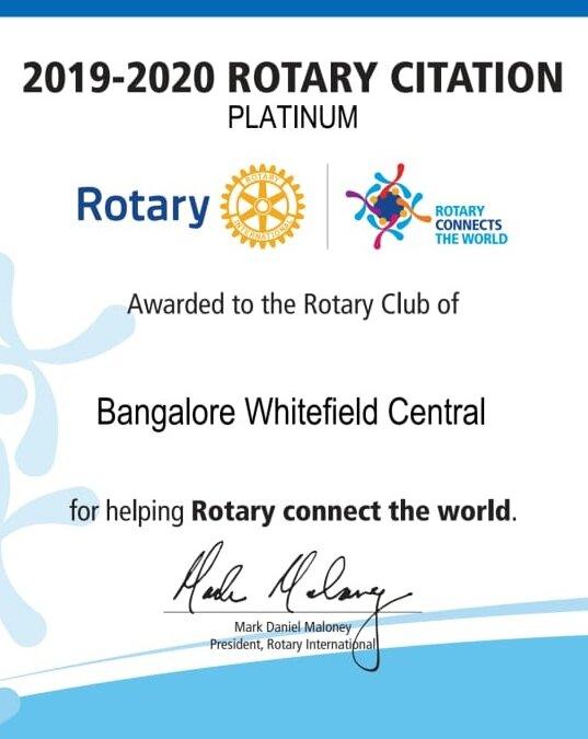 Rotary Citation 2019-20