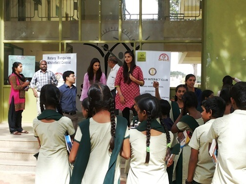 Joint project by Interact club- Shishu Mandir, RBWC in association with PWC