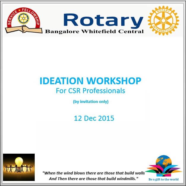 CSR Professionals – Ideation Workshop