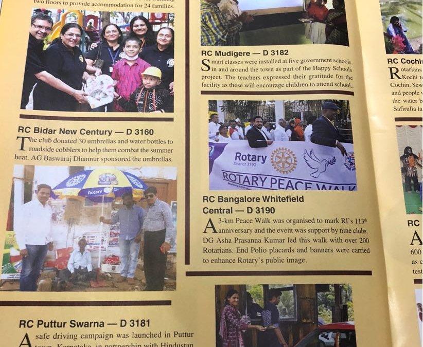 RBWC in Rotary News Magazine