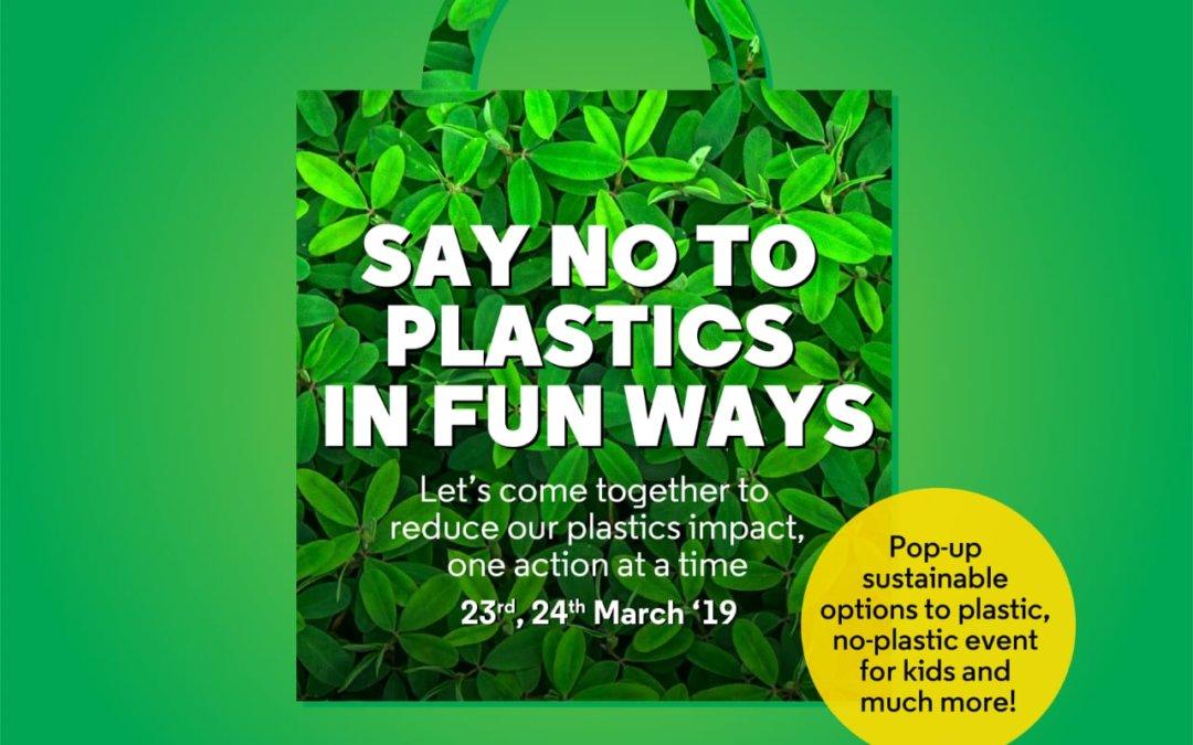 No To Plastics in fun ways