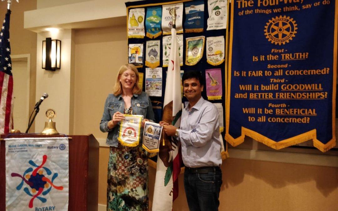Flag  exchange by Rtn Pavan