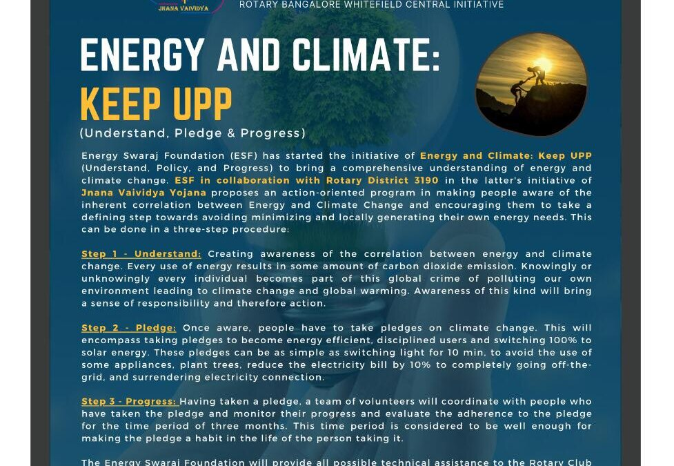 ENERGY AND CLIMATE: KEEP UPP