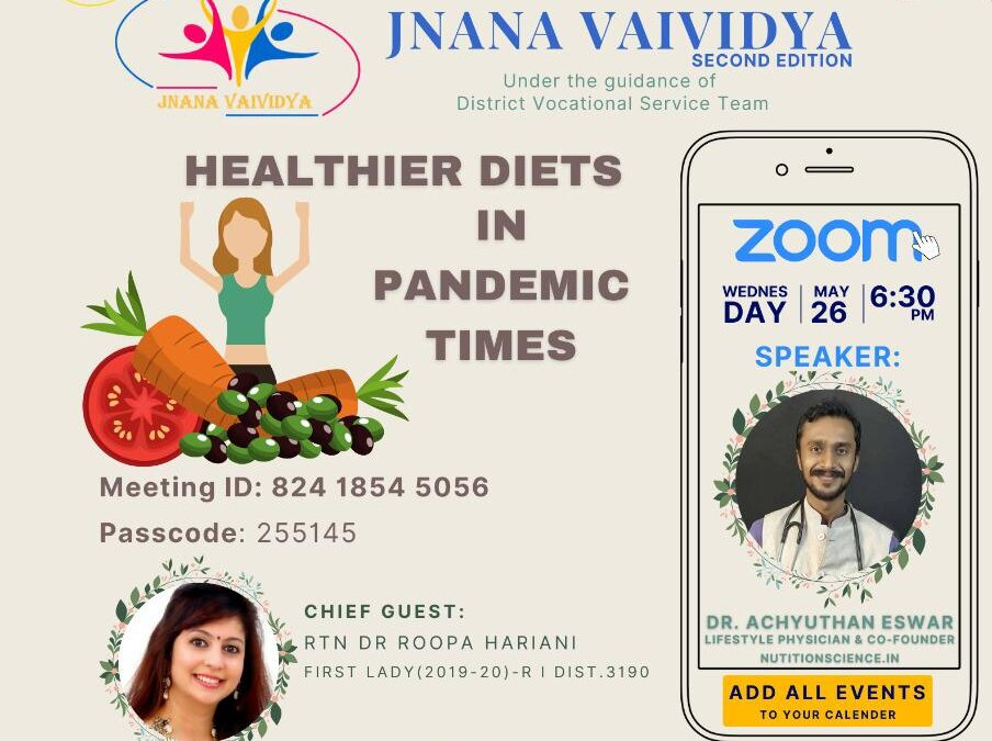 Healthier Diets in Pandemic Times
